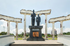 Proclamation statue in ruins, Museum Tugu Pahlawan in Surabaya, East Java, Indonesia Stock Images
