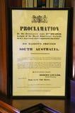 Proclamazione Fotografia Stock