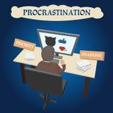 Procrastination - delaying urgent and important Royalty Free Stock Image