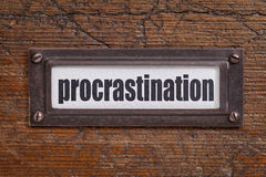 Procrastination label Stock Photography
