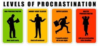 Procrastination levels Stock Photo