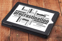 Procrastination word cloud Stock Images
