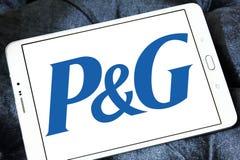 Procter & Gamble, λογότυπο επιχείρησης P&G στοκ φωτογραφίες