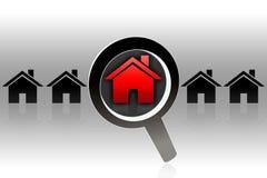 Procura da casa - conceito Ilustração do Vetor