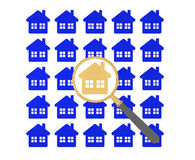 Procura de casa Imagens de Stock