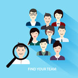 Procura de emprego e carreira Gestão de recursos humanos e hunte da cabeça Fotos de Stock Royalty Free
