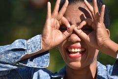 Procurando Filipina Female jovem fotos de stock royalty free