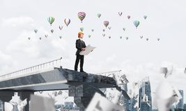 Procurando maneiras novas pela solução dos problemas Foto de Stock