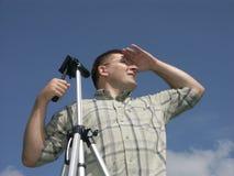 Procurando a melhor vista Foto de Stock Royalty Free
