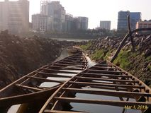Procurando meu destino na ÍNDIA OCIDENTAL do segundo v Kolkata BENGAL imagens de stock royalty free