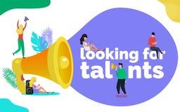 Procurando o conceito da ilustração dos talentos ilustração stock