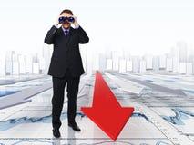 Procurando o sucesso Imagem de Stock
