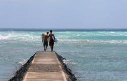 Procurando ondas grandes Fotografia de Stock Royalty Free