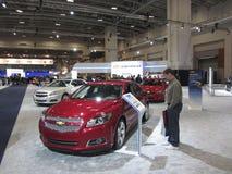 Procurando um carro novo imagens de stock royalty free