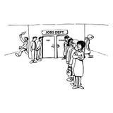 Procurando um trabalho novo ilustração royalty free