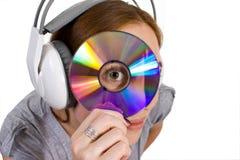 Procurarando a música Imagem de Stock