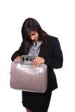 Procurarando o saco Foto de Stock