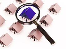 Procurarando a propriedade ou a HOME Imagens de Stock Royalty Free