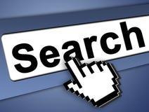 Procurare o Internet imagem de stock