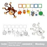Procure o macaco da palavra ilustração royalty free