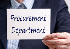 Procurement Department Royalty Free Stock Images