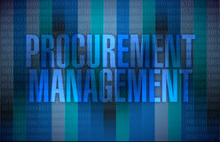 Procurement management binary illustration. Design graphic background Royalty Free Stock Image