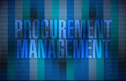 Procurement management binary illustration Royalty Free Stock Image