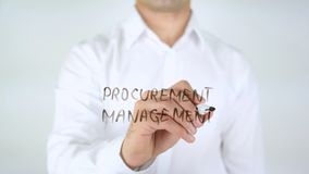 Procurement Management, Man Writing on Glass. High quality stock images