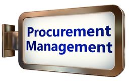 Procurement Management on billboard background. Procurement Management wall light box billboard background , isolated on white Royalty Free Stock Photography