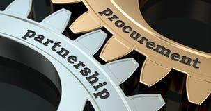 Procurement Partnership gearwheels, 3D animation video