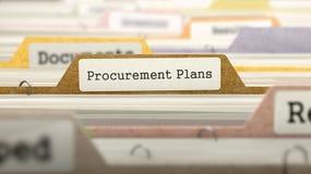 Procurement Plans Concept on Folder Register. Stock Image