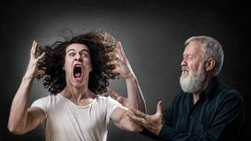 Prodigal angry son Royalty Free Stock Photos