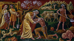The Prodigal Son (mural). A photo of The Prodigal Son (mural Royalty Free Stock Photo