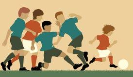Prodige du football Images libres de droits