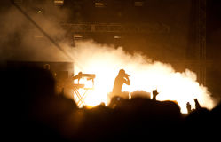 Prodigy concert. Maxim on stage at Peninsula Felsziget Targu Mures Royalty Free Stock Images