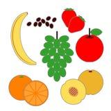 Prodotti alimentari della frutta della piramide di alimento Immagini Stock Libere da Diritti