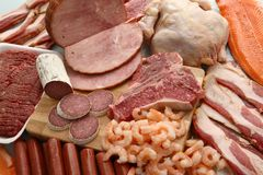 Prodotti a base di carne Fotografia Stock