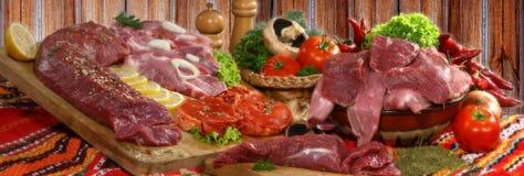 prodotti a base di carne Fotografia Stock Libera da Diritti