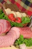 Prodotti a base di carne affumicati Fotografia Stock Libera da Diritti