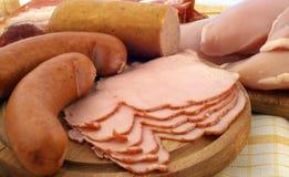 Prodotti a base di carne curati Fotografie Stock