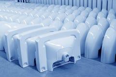 Prodotti ceramici di closestool Immagini Stock