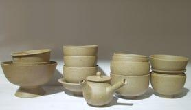 Prodotti ceramici di stile orientale Immagine Stock