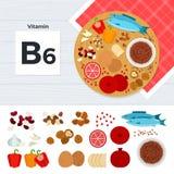 Prodotti con la vitamina b6 Fotografie Stock Libere da Diritti
