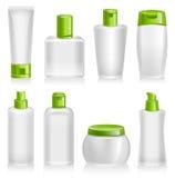 Prodotti cosmetici, organico, naturali, contenitori di prodotto Immagine Stock Libera da Diritti