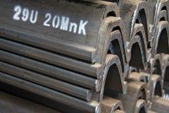 Prodotti d'acciaio dei materiali nella sezione trasversale Immagine Stock Libera da Diritti