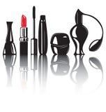 Prodotti decorativi dei cosmetici Immagine Stock Libera da Diritti