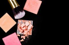 Prodotti dei cosmetici di trucco Fotografia Stock Libera da Diritti