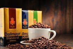 Prodotti del caffè di Alois Dallmayr Fotografie Stock Libere da Diritti