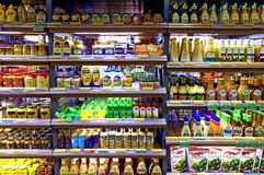 Prodotti del condimento dell'insalata e del condimento Immagine Stock Libera da Diritti