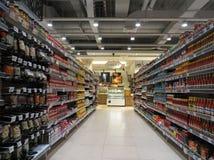 Prodotti del condimento in un supermercato Fotografia Stock Libera da Diritti
